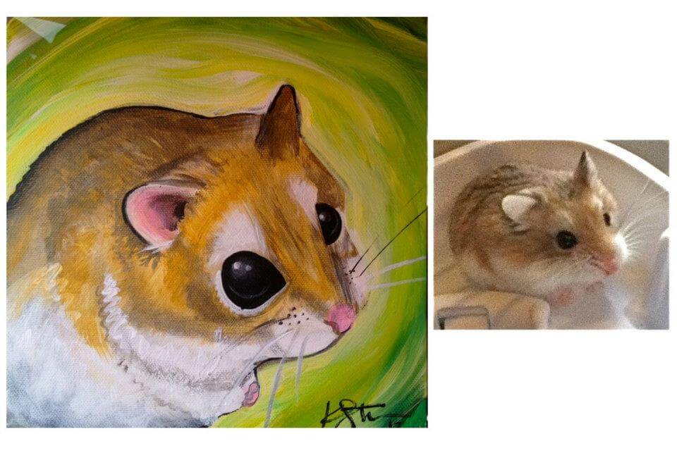 pet painting portrait from San Diego pet painter Katy Helen