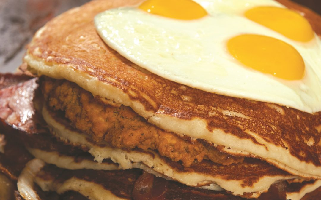 Brian's 24 and the five-and-a-half-pound stack of pancakes on Travel Channel