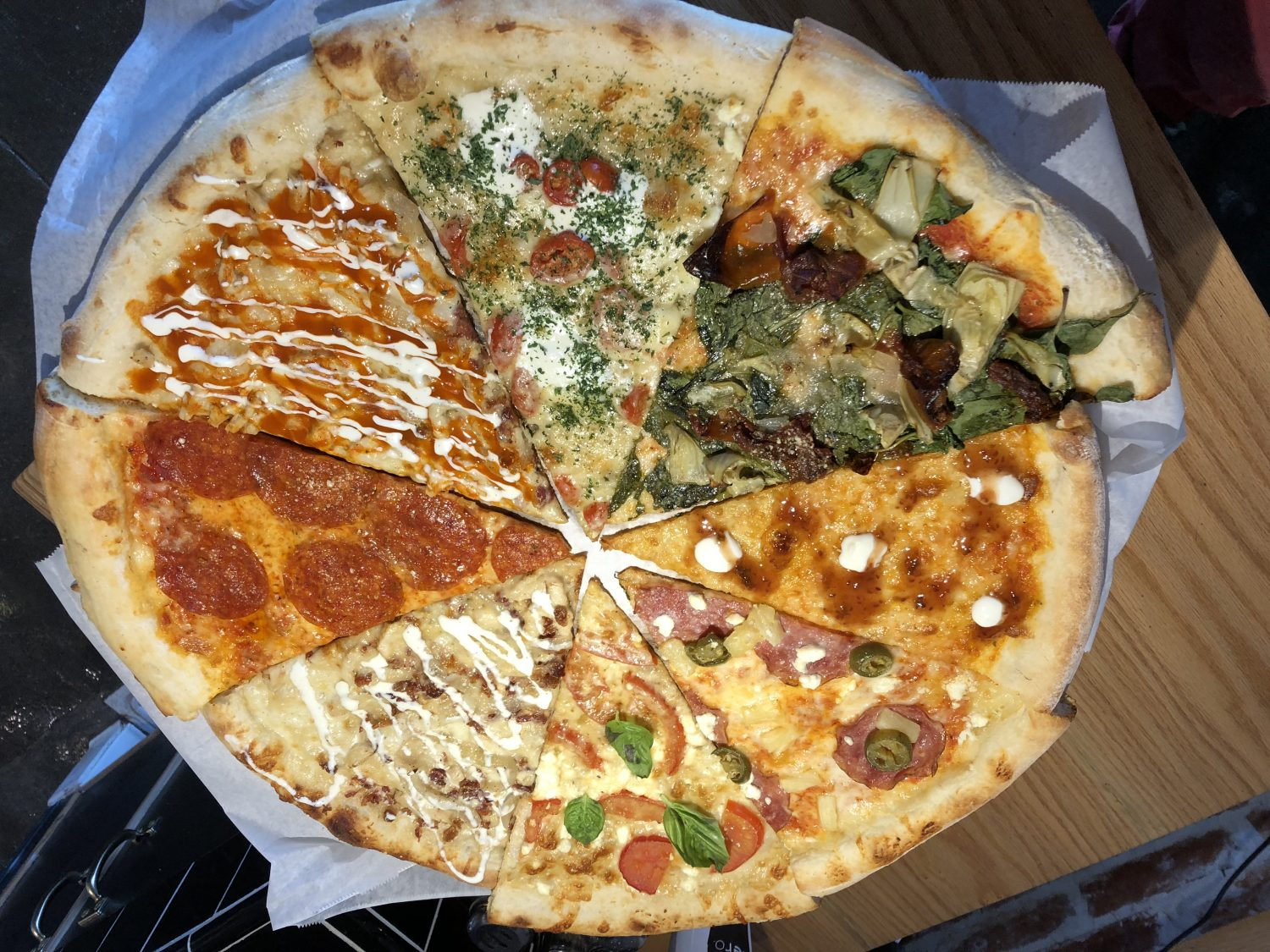 East Coast style pizza at Mr Moto in Point Loma San Diego